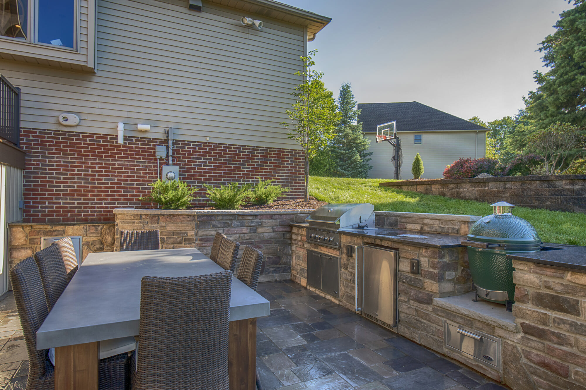 Outdoor grill area
