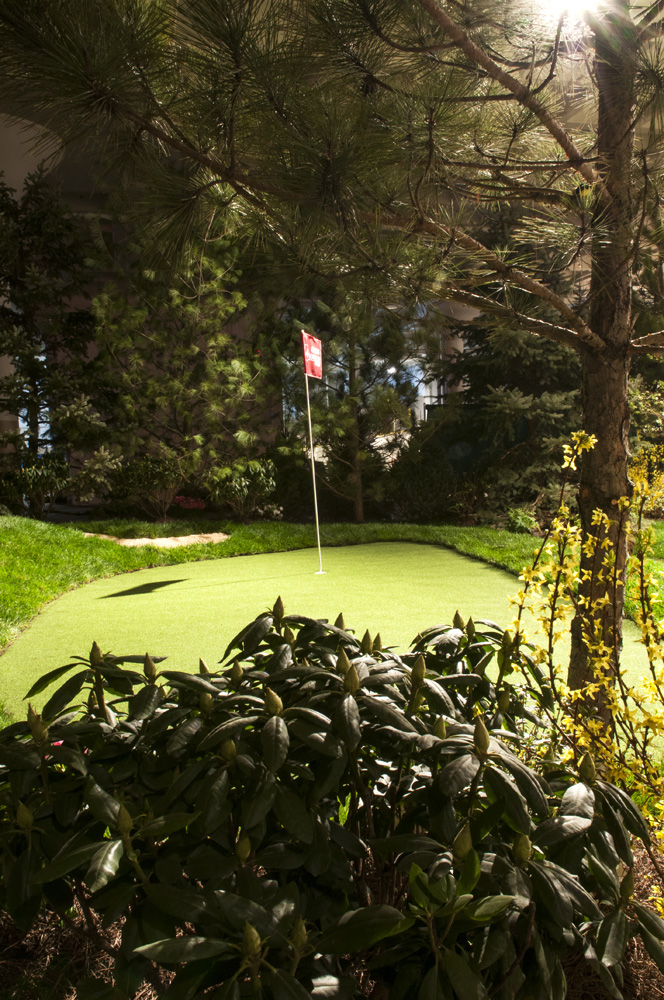 Golf hole landscape