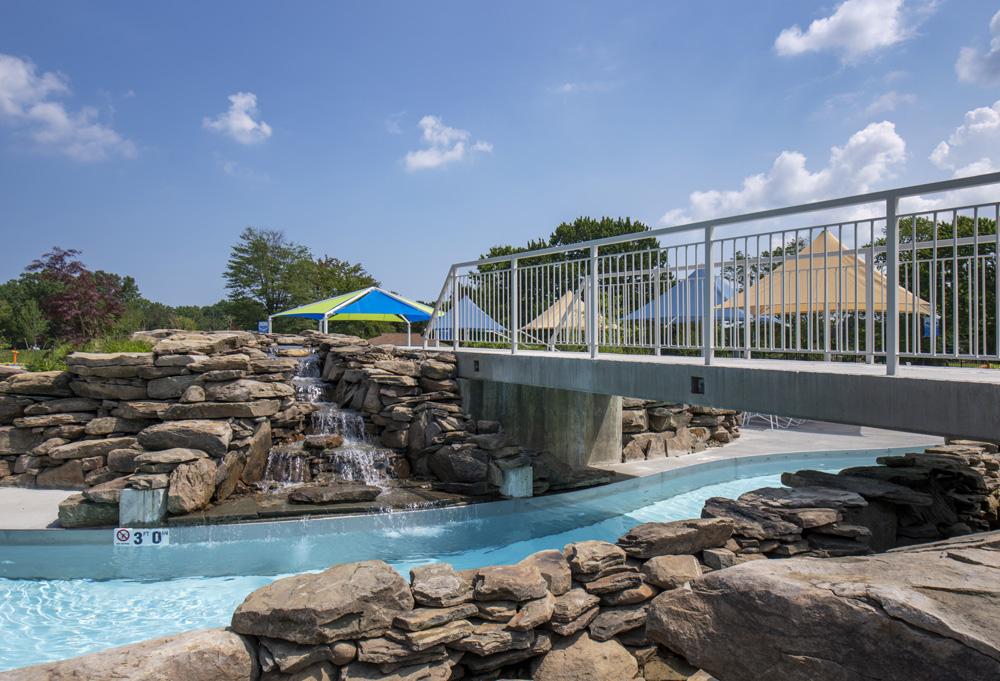 pool rock landscape
