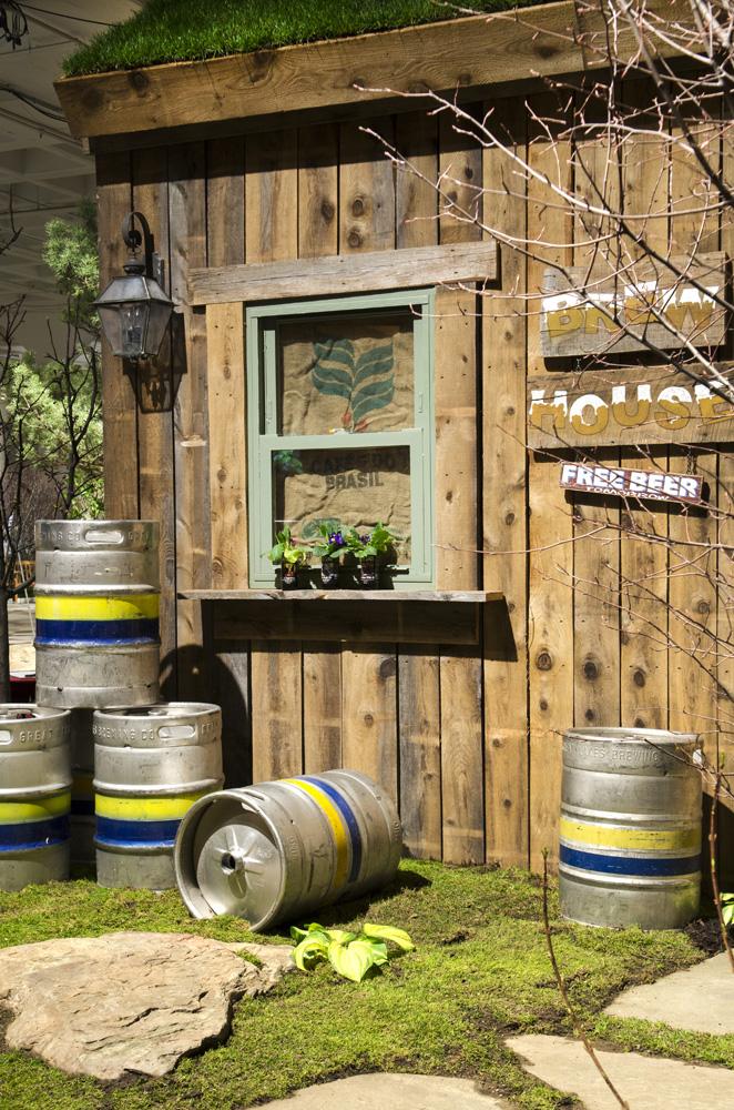 Beer kegs landscape