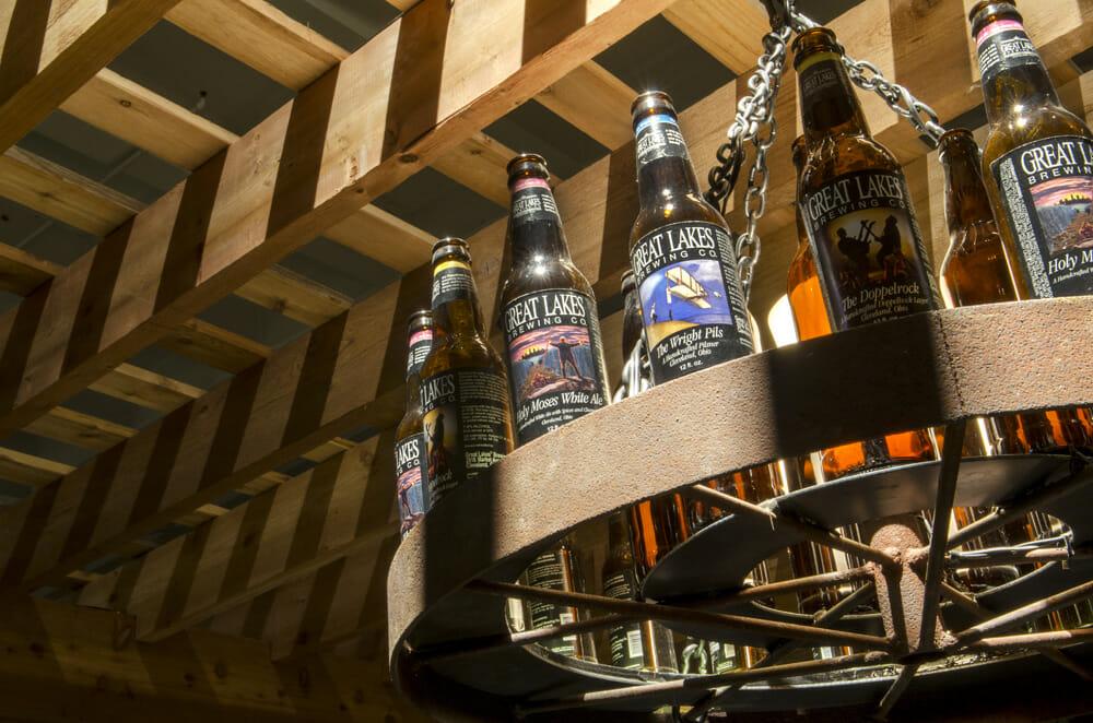 Beer chandelier