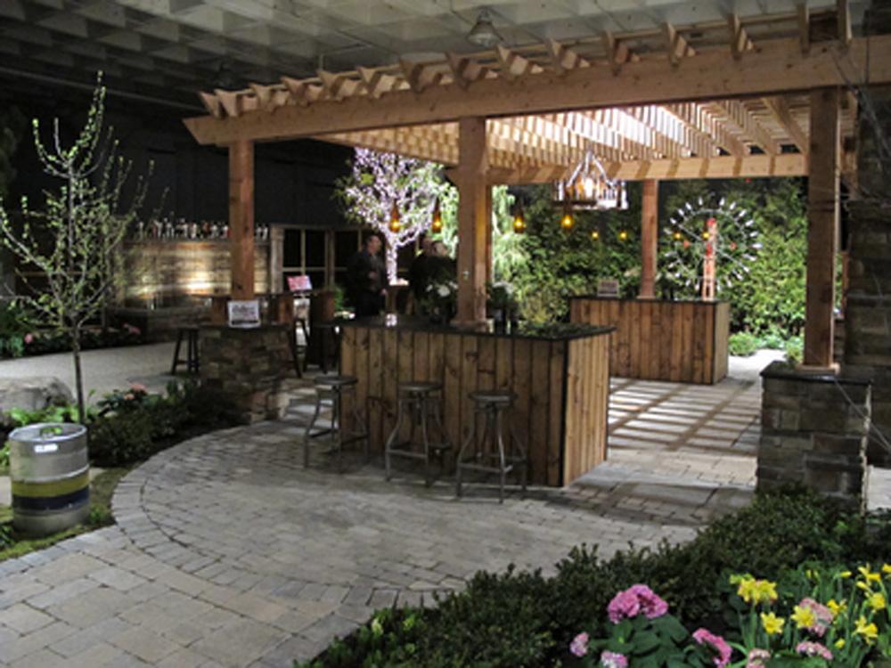 Beer garden landscape