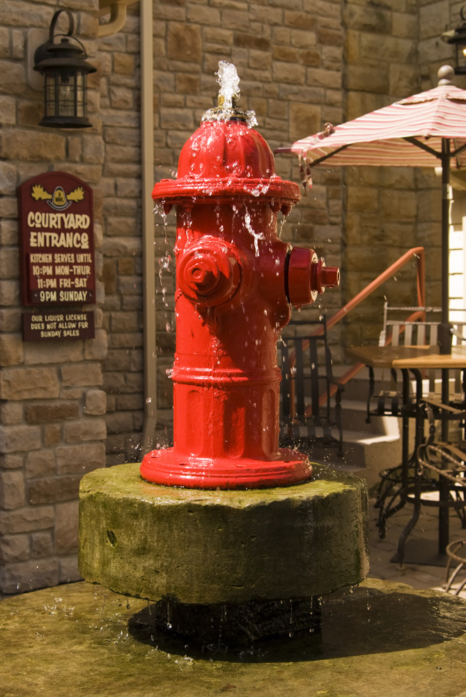 fire hydrant water
