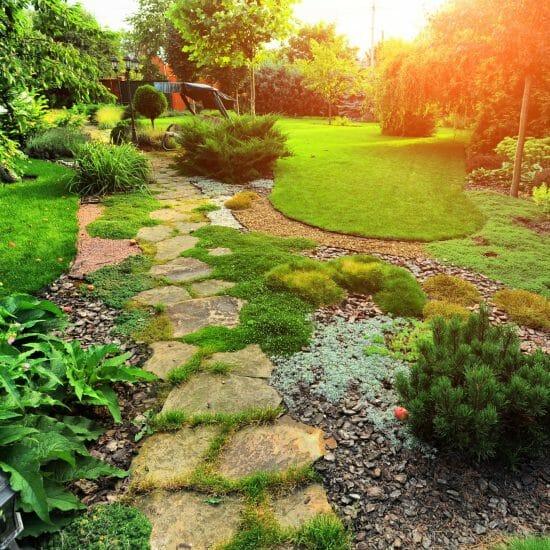 natural stone path